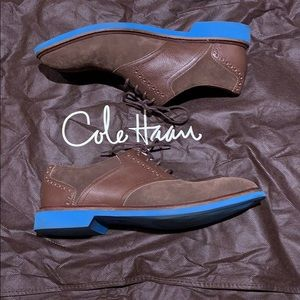 Men's Chocolate Suede/Leather Saddle Shoes
